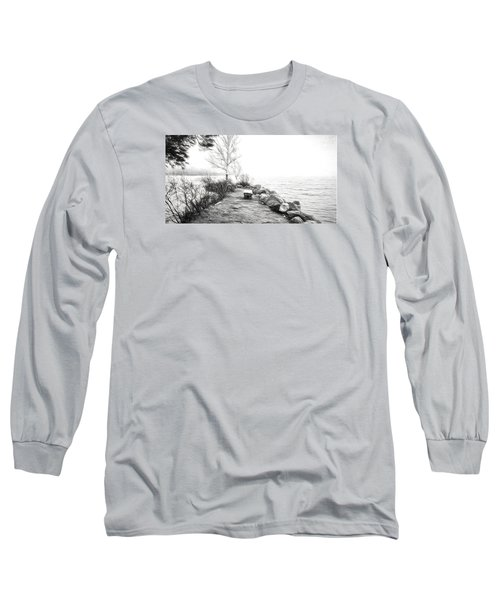 Camp Of The Woods, Ny Long Sleeve T-Shirt by Rena Trepanier
