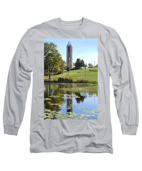 Campanile Reflection In Kansas Long Sleeve T-Shirt
