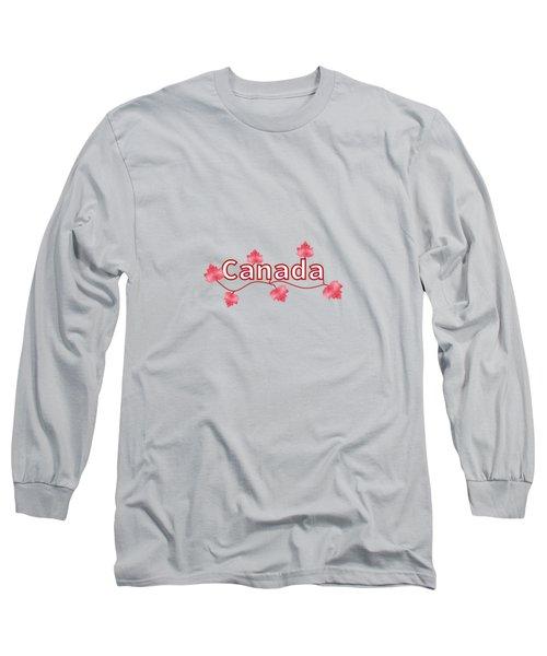 Canada Maple Leaf Long Sleeve T-Shirt by Kathleen Sartoris