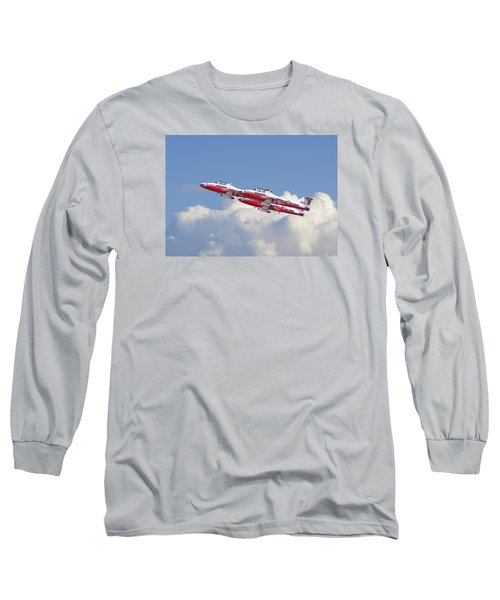 Long Sleeve T-Shirt featuring the photograph Canadian Air Force Aerobatic Team - Snowbirds by Pat Speirs