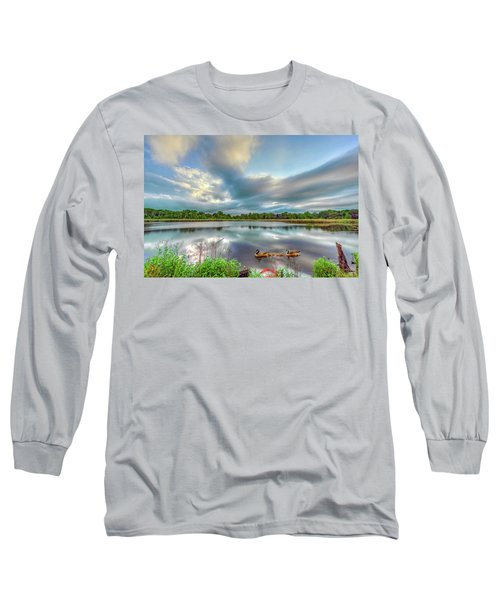 Canadian Geese On A Marylamd Pond Long Sleeve T-Shirt