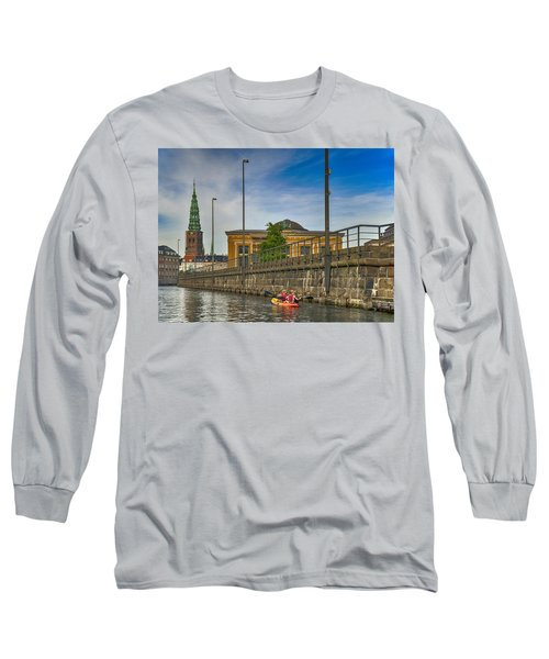 Canal Kayaking In Copenhagen Long Sleeve T-Shirt