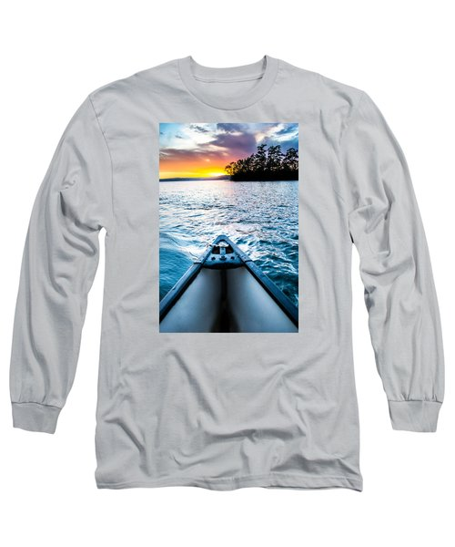 Canoeing In Paradise Long Sleeve T-Shirt by Parker Cunningham