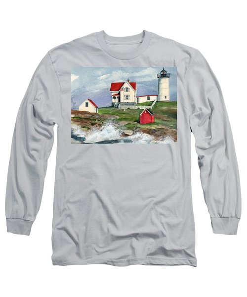 Cape Neddic Lighthouse  Long Sleeve T-Shirt
