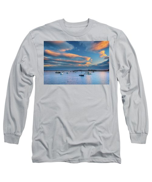 Long Sleeve T-Shirt featuring the photograph Cape Porpoise Harbor At Sunset by Rick Berk