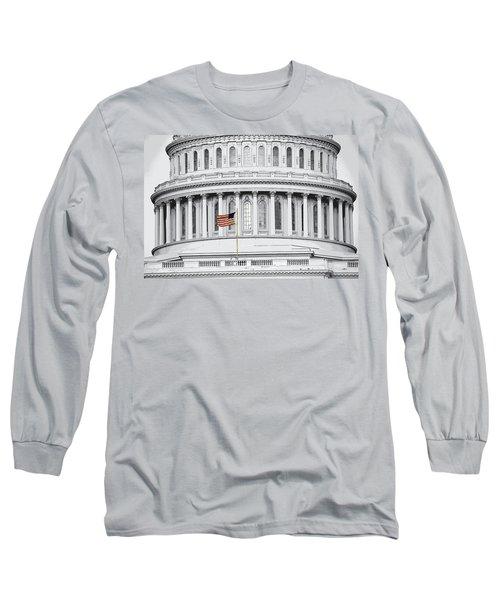 Long Sleeve T-Shirt featuring the photograph Capitol Flag by John Schneider