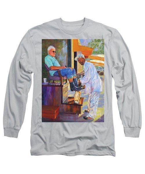Captain Shoe Shine Long Sleeve T-Shirt by AnnaJo Vahle