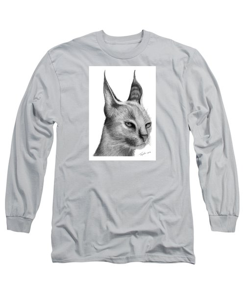 Caracal Long Sleeve T-Shirt by Lawrence Tripoli