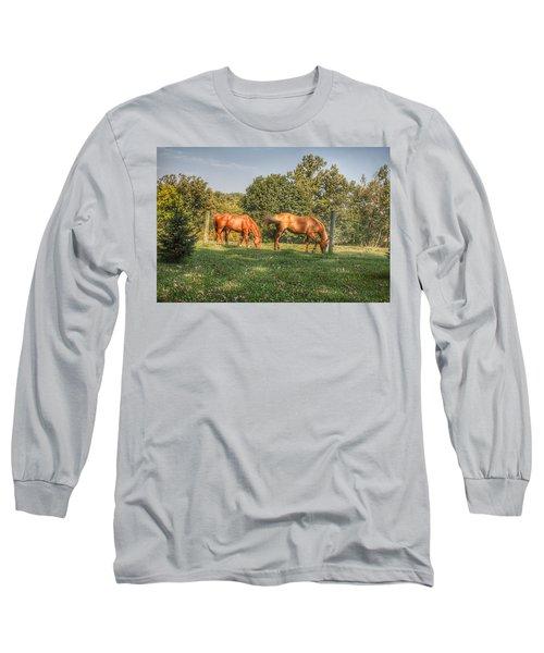 1006 - Caramel Horses I Long Sleeve T-Shirt
