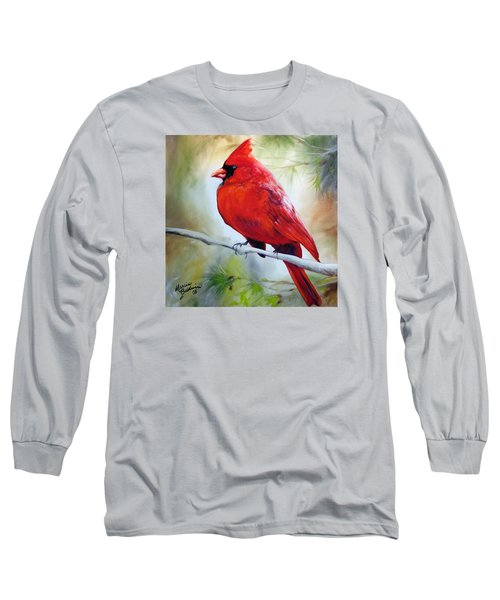 Cardinal 18 Long Sleeve T-Shirt by Marcia Baldwin
