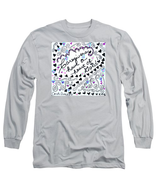 Caregiver Hearts Long Sleeve T-Shirt by Carole Brecht