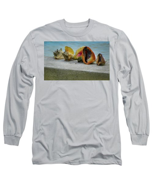 Long Sleeve T-Shirt featuring the photograph Caribbean Charisma by Karen Wiles