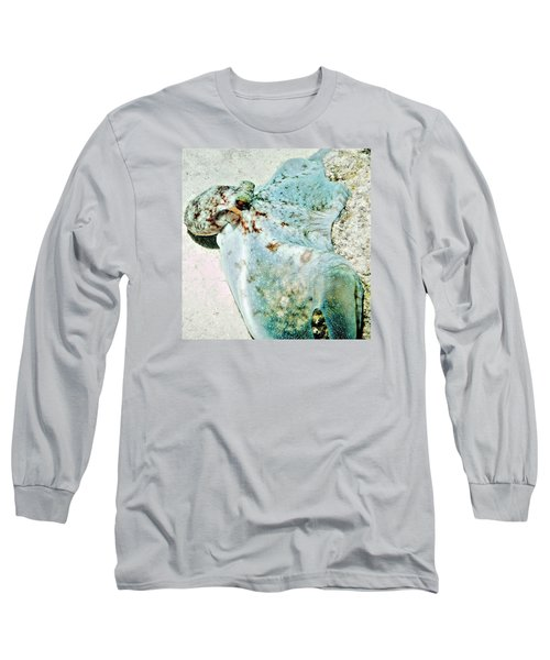 Caribbean Reef Octopus - Eyes Of The Deep Long Sleeve T-Shirt by Amy McDaniel