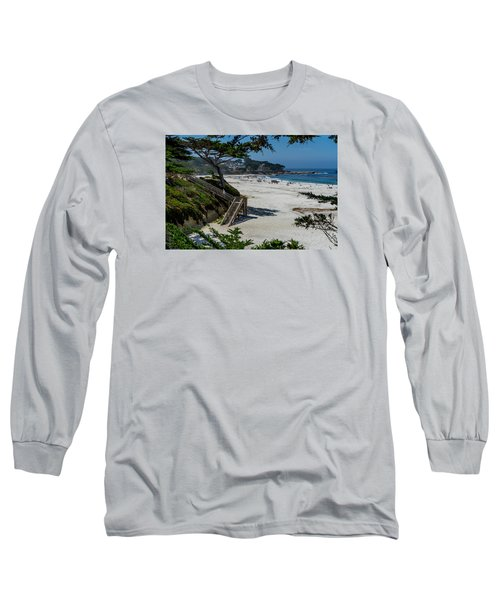 Carmel Beach Stairs Long Sleeve T-Shirt