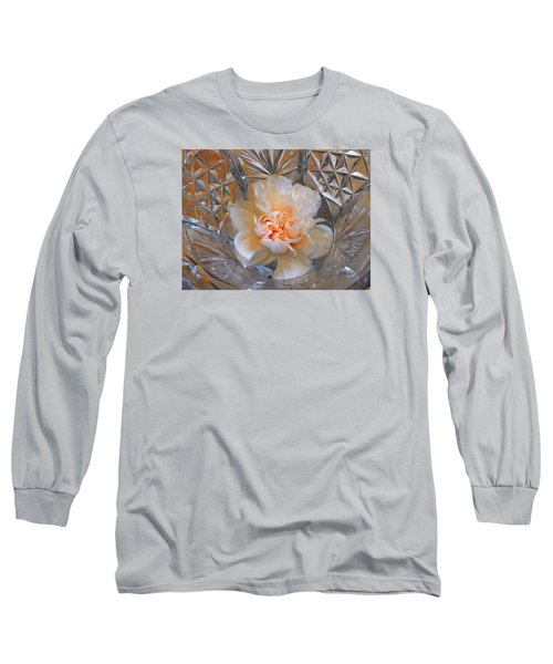 Carnation In Cut Glass 7 Long Sleeve T-Shirt by Lynda Lehmann