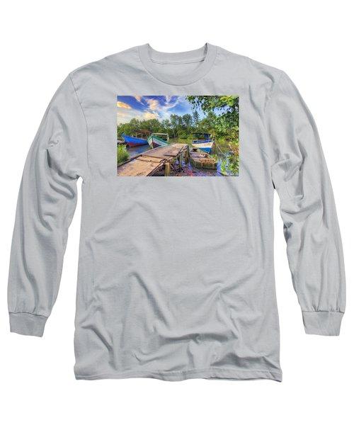 Caroni Swamp Long Sleeve T-Shirt by Nadia Sanowar