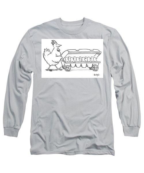 Carton Of Chicks Long Sleeve T-Shirt