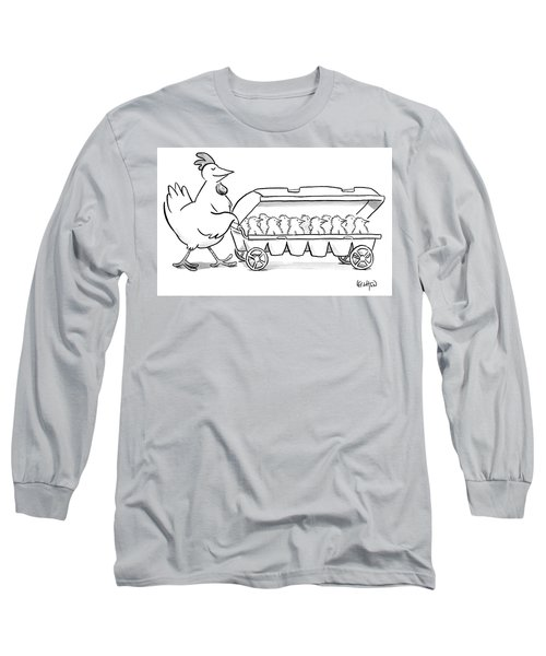 Carton Of Chicks Long Sleeve T-Shirt