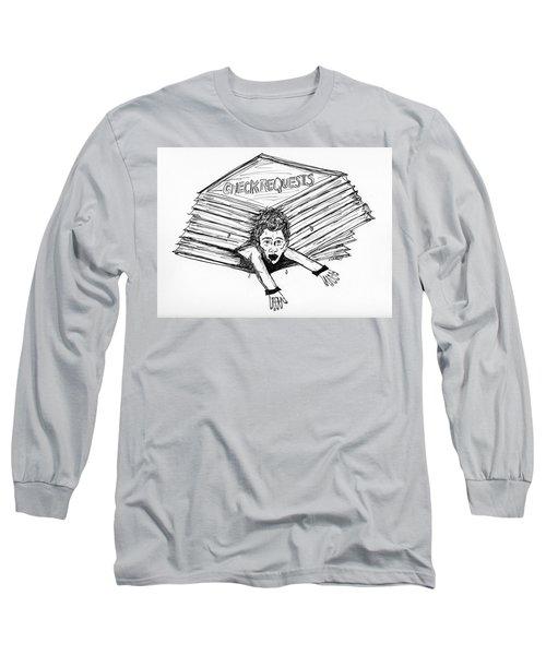Cartoon Check Requests Long Sleeve T-Shirt