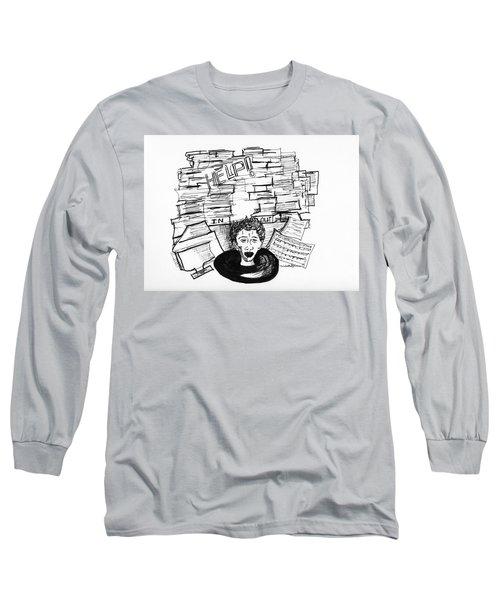 Cartoon Inbox Long Sleeve T-Shirt