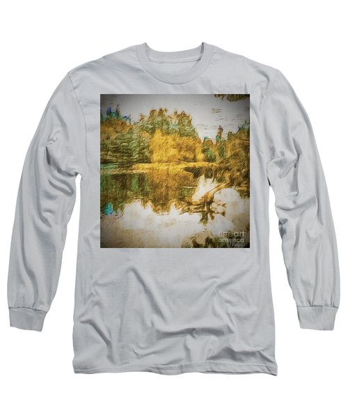 Long Sleeve T-Shirt featuring the photograph Cascade Lake by William Wyckoff