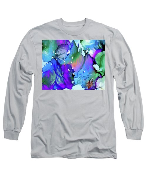 Long Sleeve T-Shirt featuring the painting Cascades by Yolanda Koh