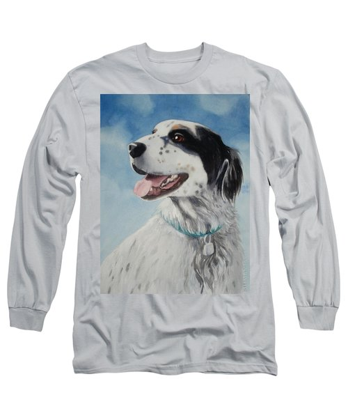 Long Sleeve T-Shirt featuring the painting Casey by Marilyn Jacobson