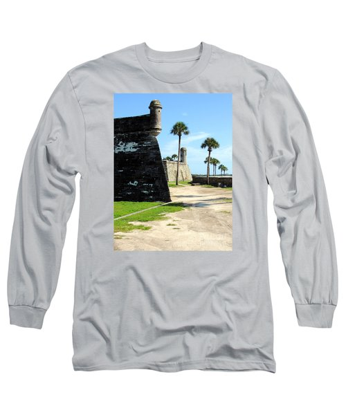 Long Sleeve T-Shirt featuring the photograph Castillo De San Marcos St Augustine Florida by Bill Holkham