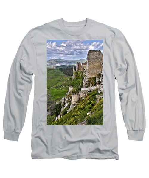 Castle Of Pietraperzia Long Sleeve T-Shirt
