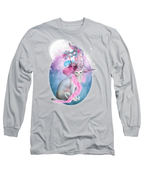 Cat In Fancy Witch Hat 4 Long Sleeve T-Shirt