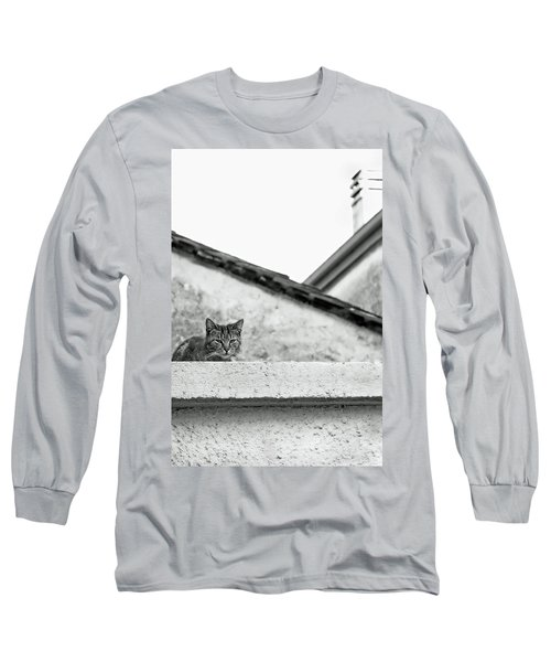 Cat On A Roof, Varenna Long Sleeve T-Shirt by Brooke T Ryan