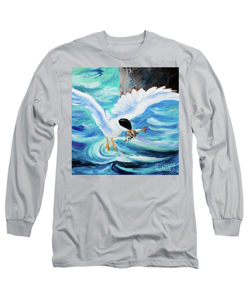 Long Sleeve T-Shirt featuring the painting Catch by Igor Postash