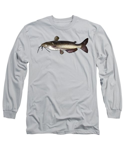 Catfish Drawing Long Sleeve T-Shirt by A C
