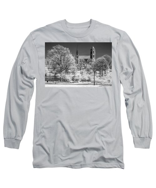 Long Sleeve T-Shirt featuring the photograph Cathedral Basilica Of The Sacred Heart Ir by Susan Candelario