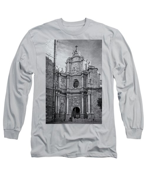 Long Sleeve T-Shirt featuring the photograph Cathedral Valencia Spain by Joan Carroll