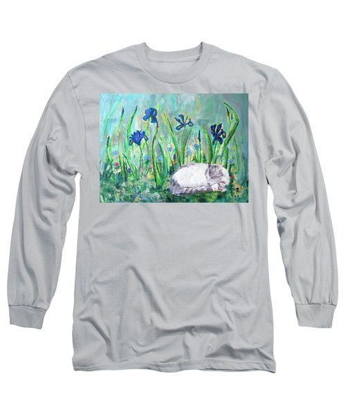 Catnap In The Garden Long Sleeve T-Shirt