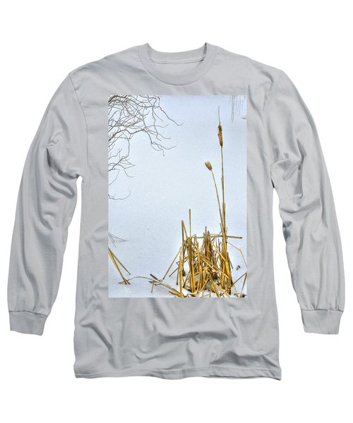 Cattails In Winter Long Sleeve T-Shirt