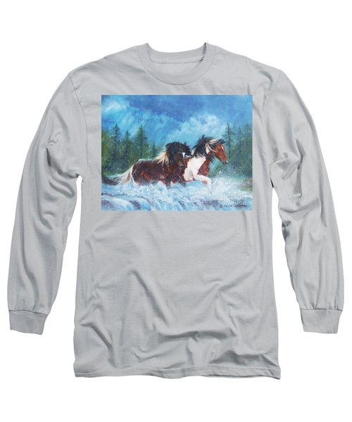 Caught In The Rain  Long Sleeve T-Shirt by Karen Kennedy Chatham