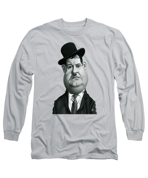 Celebrity Sunday - Oliver Hardy Long Sleeve T-Shirt by Rob Snow