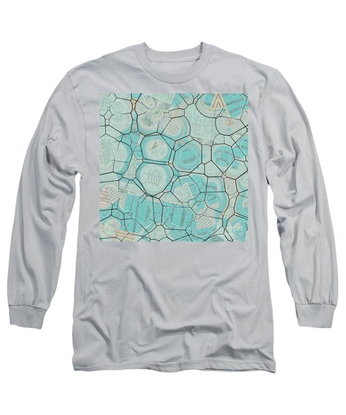 Long Sleeve T-Shirt featuring the digital art Cellules - 04c1 by Variance Collections
