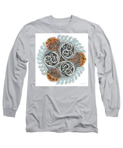 Celtic Knot With Autumn Trees Long Sleeve T-Shirt