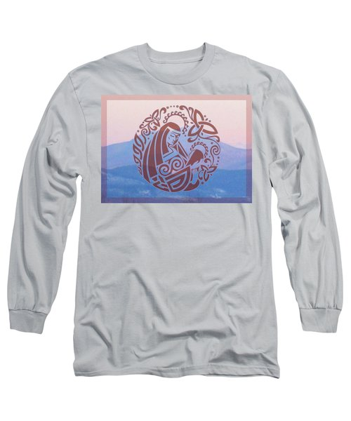 Celtic Madonna Over A Mountain Long Sleeve T-Shirt
