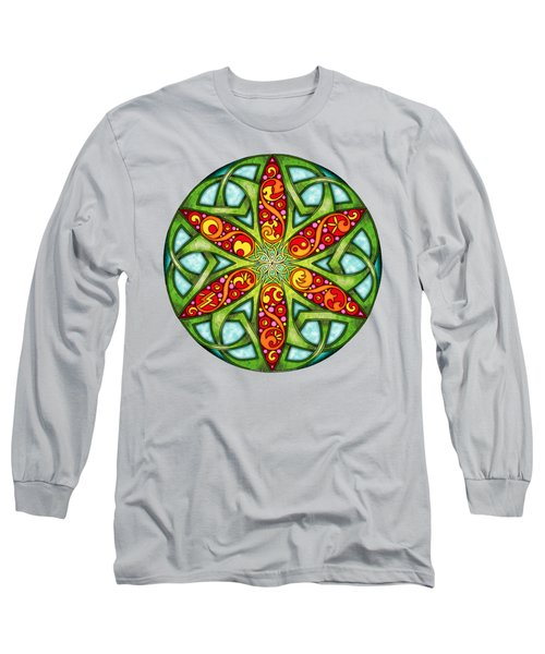 Celtic Summer Mandala Long Sleeve T-Shirt