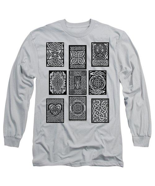 Celtic Tarot Spread Long Sleeve T-Shirt by Kristen Fox
