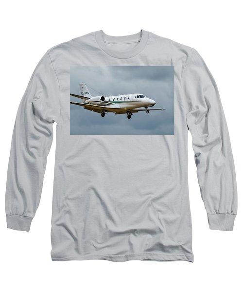 Cessna Citation X Landing Long Sleeve T-Shirt by James David Phenicie