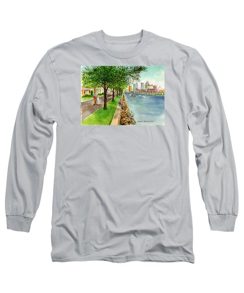 Channel Drive Tampa Florida Long Sleeve T-Shirt by Frank Hunter