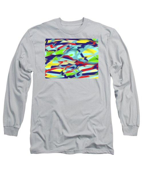 Chaos Into Form Blue Long Sleeve T-Shirt
