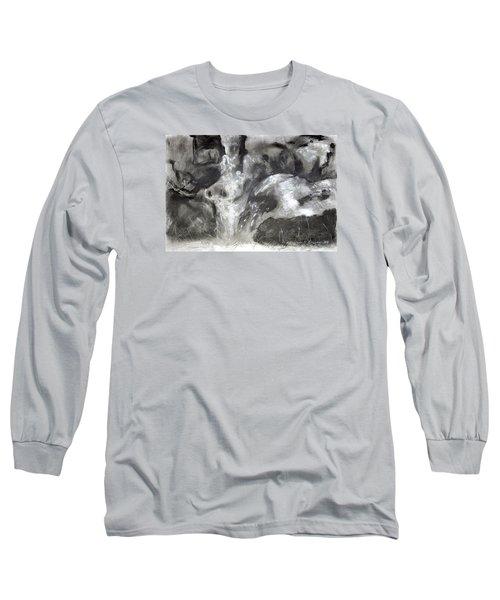 Charcoal Waterfall Long Sleeve T-Shirt