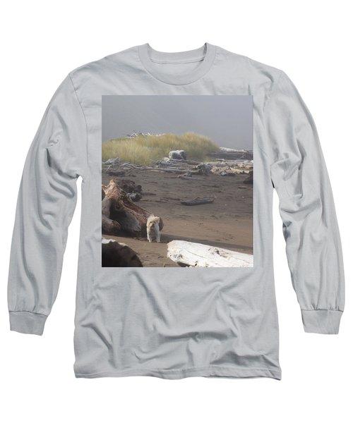 Charlie On Irish Beach Long Sleeve T-Shirt