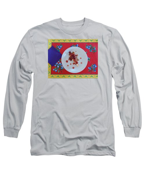 Cheese Cake With Cherries Long Sleeve T-Shirt by Jana Russon
